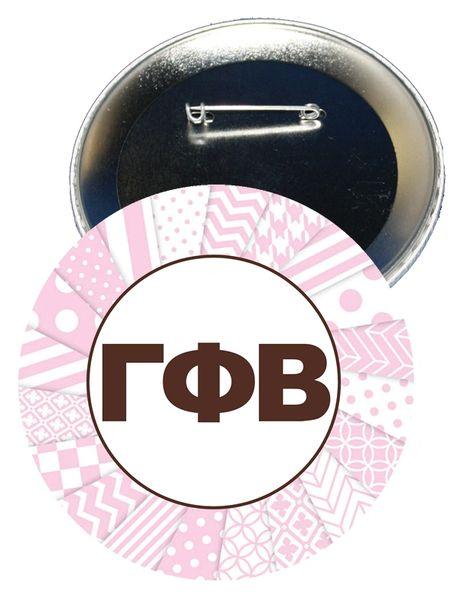 Gamma Phi Beta Letters Button