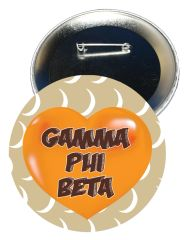 Gamma Phi Beta Heart Button