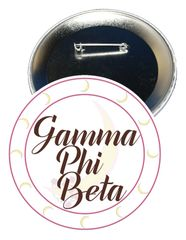 Gamma Phi Beta Sorority Button