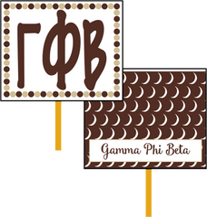 Gamma Phi Beta Logo Hand Fan