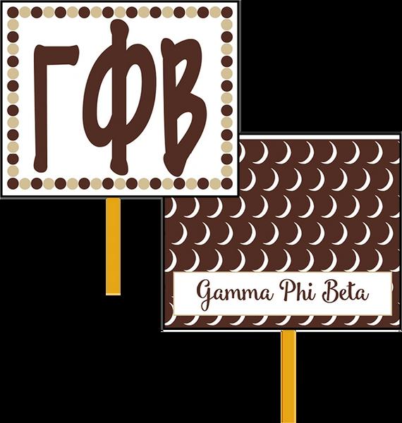 Gamma Phi Beta Logo Hand Fan