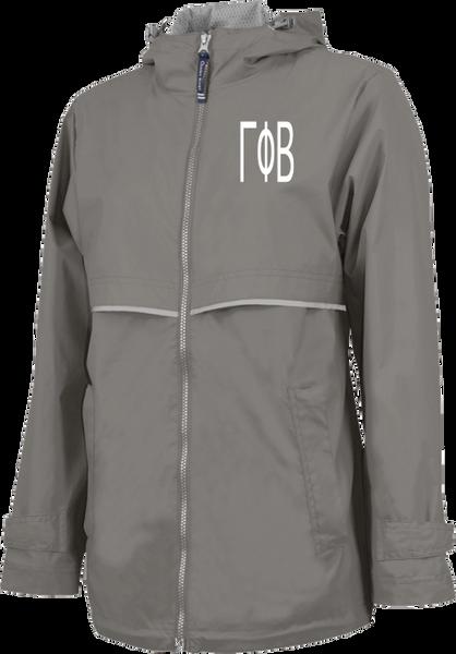 Gamma Phi Beta Letters Rain Jacket