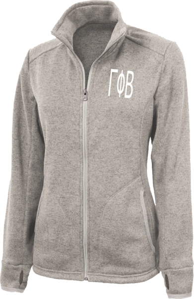 Gamma Phi Beta Letters Heathered Fleece Jacket