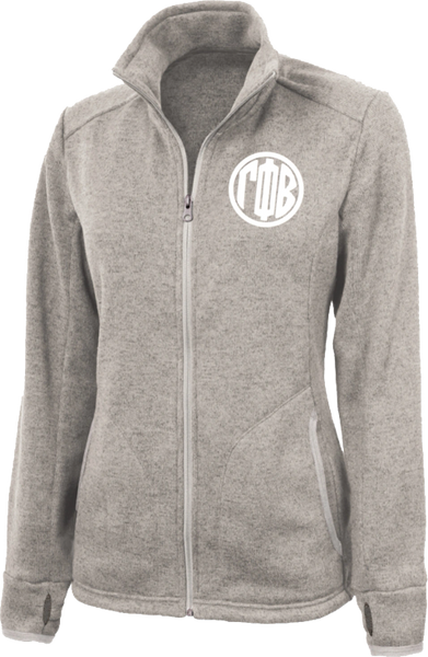 Gamma Phi Beta Monogram Heathered Fleece Jacket
