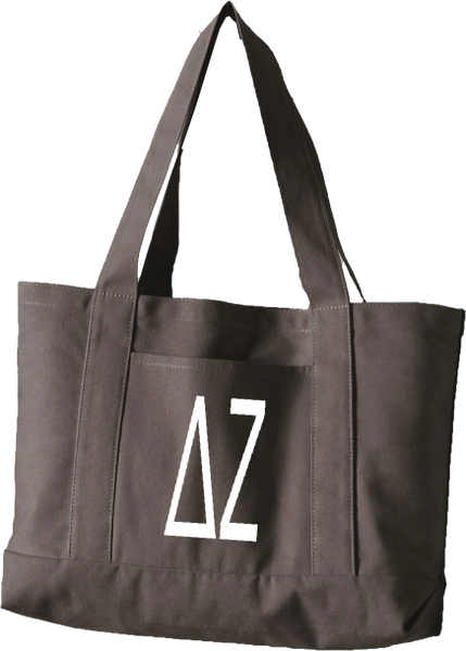 Delta Zeta Letters Canvas Tote Bag