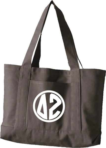 Delta Zeta Monogram Canvas Tote Bag