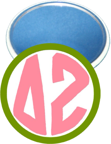 Delta Zeta Monogram Green Mirror
