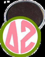 Delta Zeta Monogram Green Magnet