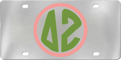 Delta Zeta Aluminum Monogram License Plate