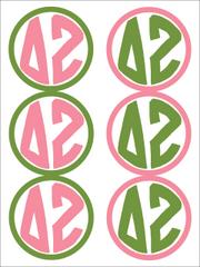Delta Zeta Monogram Sticker Sheet