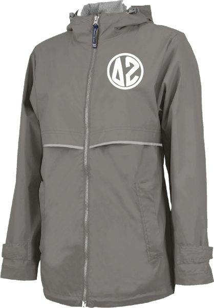 Delta Zeta Monogram Rain Jacket