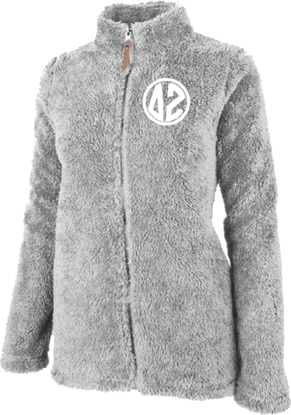 Delta Zeta Fluffy Fleece Jacket