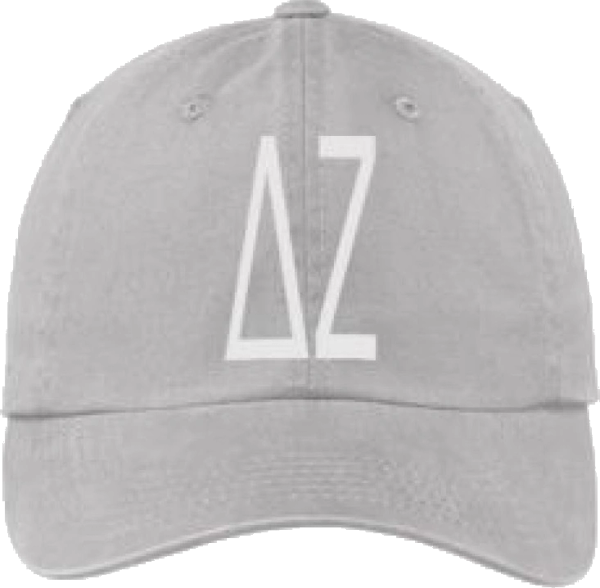 Delta Zeta Gray Ball Cap