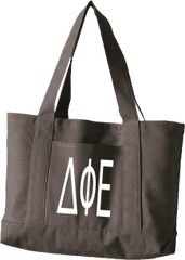 Delta Phi Epsilon Letters Canvas Tote Bag