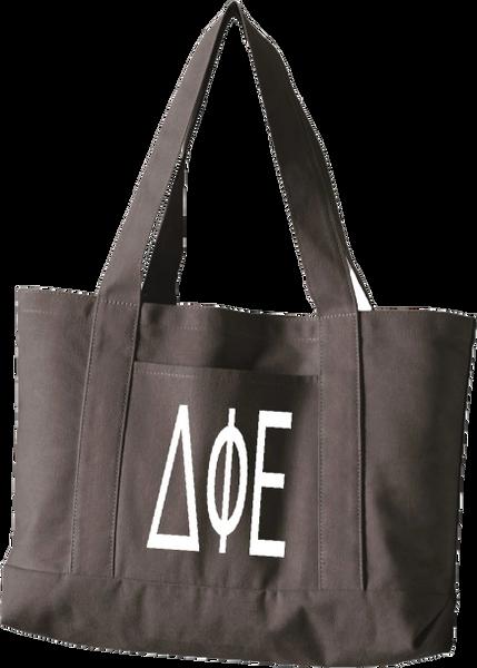 Delta Phi Epsilon Letters Canvas Tote Bag