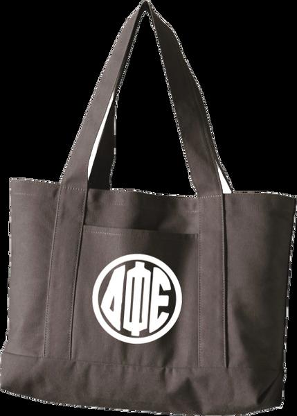 Delta Phi Epsilon Monogram Canvas Tote Bag