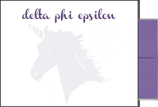 Delta Phi Epsilon Background Postcards
