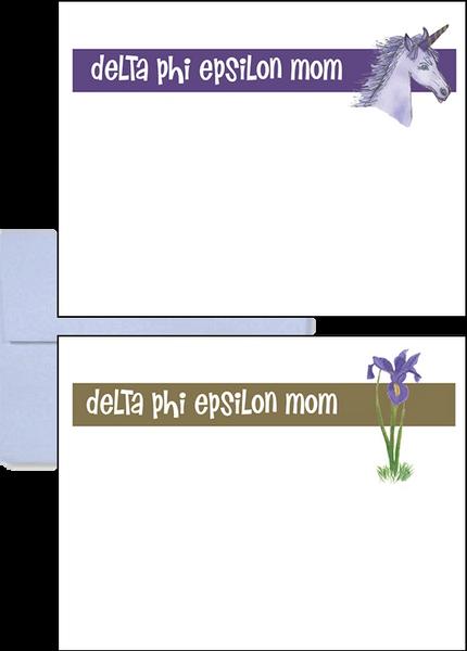 Delta Phi Epsilon Mom Logo Postcards