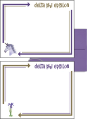Delta Phi Epsilon Arrow Postcards