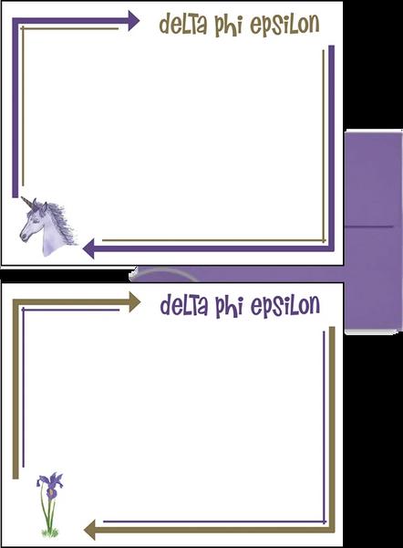 Delta Phi Epsilon Arrow Postcards