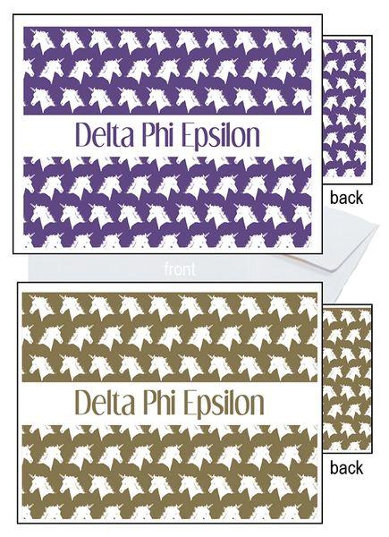 Delta Phi Epsilon Sorority Notecards