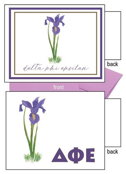 Delta Phi Epsilon Flower Notecards