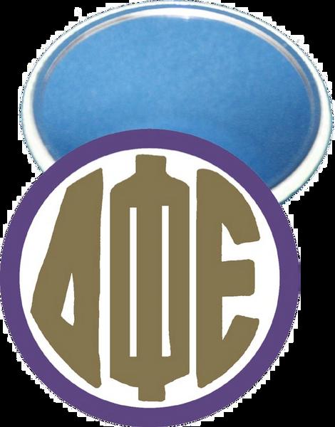 Delta Phi Epsilon Monogram Purple Mirror