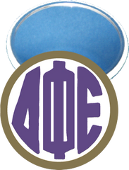 Delta Phi Epsilon Monogram Gold Mirror