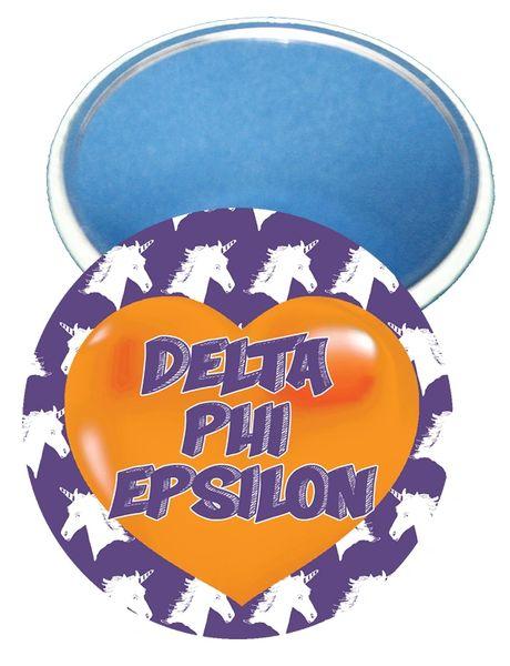 Delta Phi Epsilon Heart Mirror