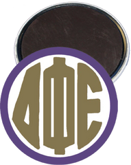 Delta Phi Epsilon Monogram Purple Magnet