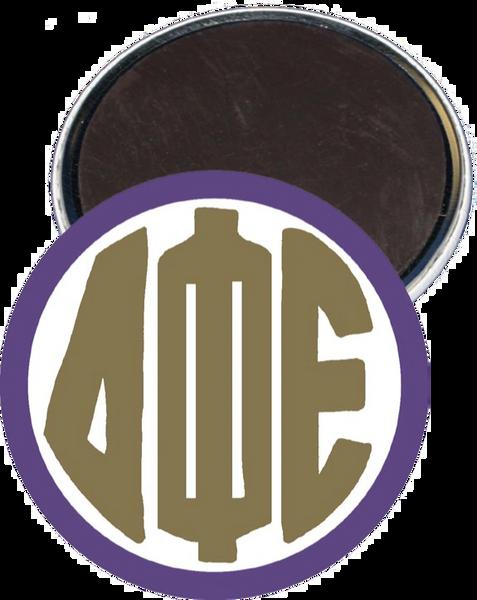 Delta Phi Epsilon Monogram Purple Magnet
