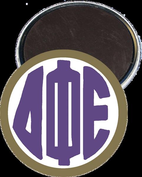 Delta Phi Epsilon Monogram Gold Magnet