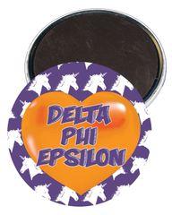Delta Phi Epsilon Heart Magnet