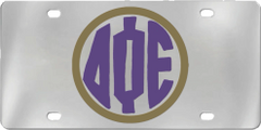 Delta Phi Epsilon Aluminum Monogram License Plate