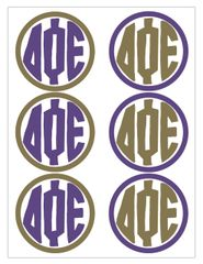 Delta Phi Epsilon Monogram Sticker Sheet