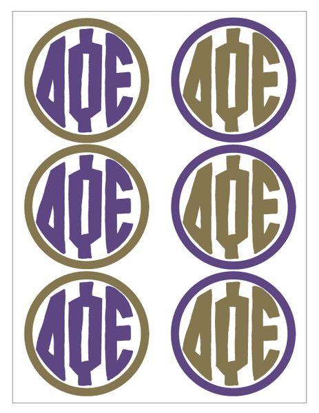 Delta Phi Epsilon Monogram Sticker Sheet