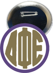 Delta Phi Epsilon Monogram Purple Button