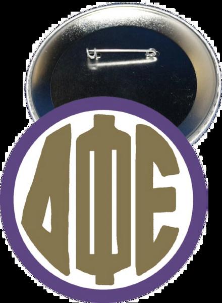 Delta Phi Epsilon Monogram Purple Button