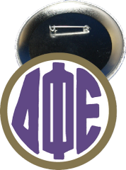 Delta Phi Epsilon Monogram Gold Button