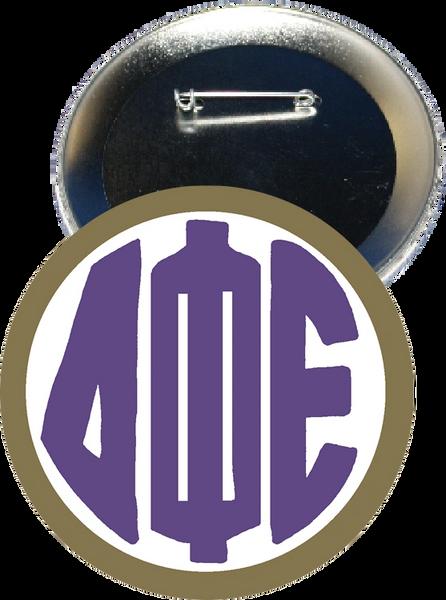 Delta Phi Epsilon Monogram Gold Button