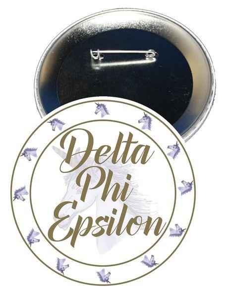 Delta Phi Epsilon Sorority Button