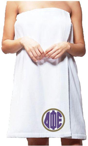 Delta Phi Epsilon Monogram Towel Wrap