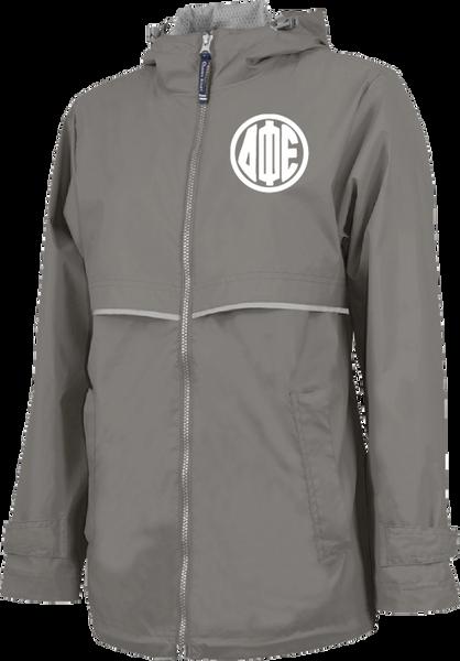Delta Phi Epsilon Monogram Rain Jacket