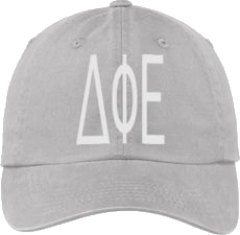 Delta Phi Epsilon Gray Ball Cap