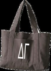 Delta Gamma Letters Canvas Tote Bag