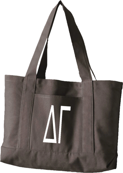 Delta Gamma Letters Canvas Tote Bag