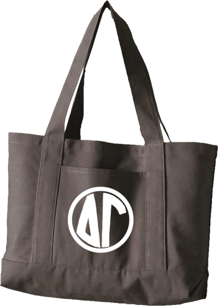 Delta Gamma Monogram Canvas Tote Bag