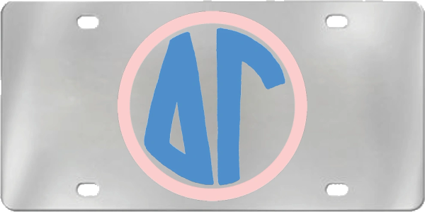 Delta Gamma Aluminum Monogram License Plate