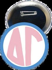Delta Gamma Monogram Blue Button
