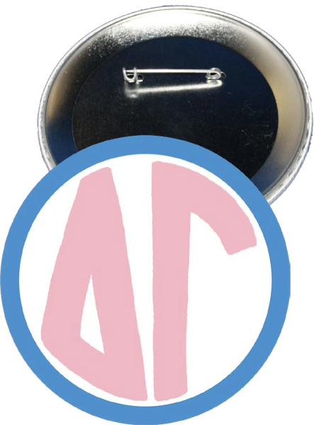 Delta Gamma Monogram Blue Button